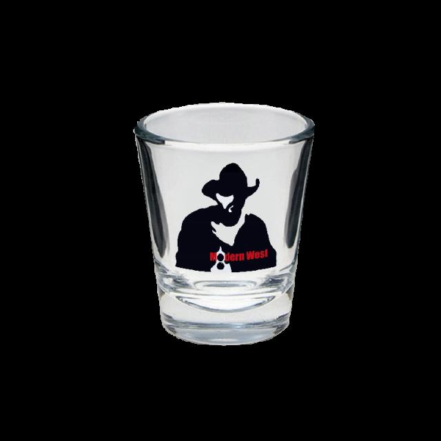 Kevin Costner & Modern West Shotglass