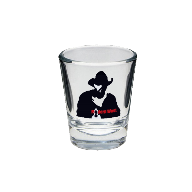 Kevin Costner & Modern West Shotglass