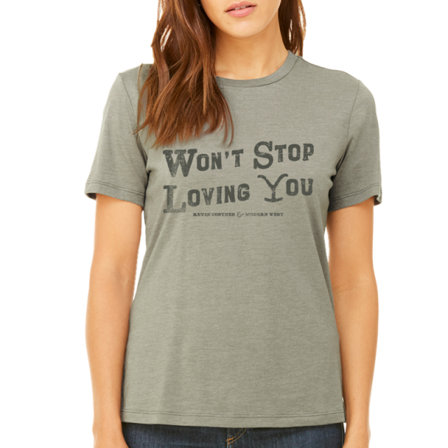 Tales From Yellowstone Ladies Heather Stone Tee