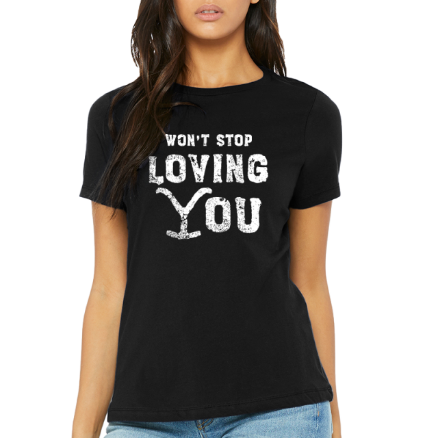 Tales From Yellowstone Ladies Black Tee